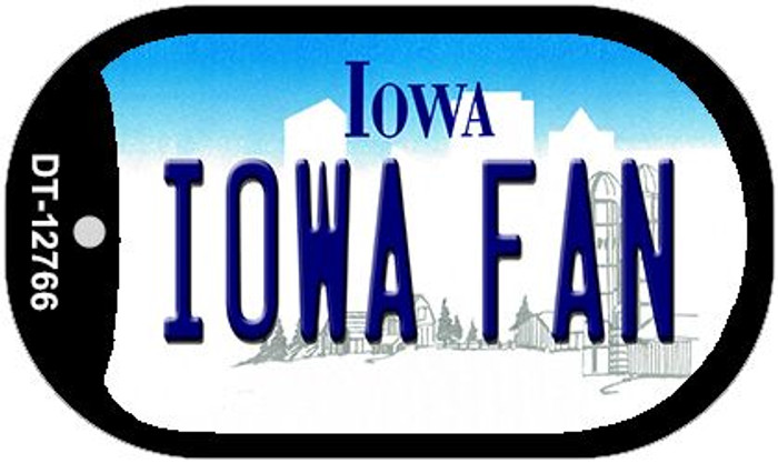 Iowa Fan Novelty Metal Dog Tag Necklace DT-12766