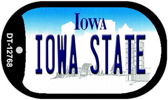 Iowa State Novelty Metal Dog Tag Necklace DT-12768