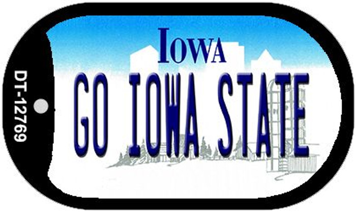 Go Iowa State Novelty Metal Dog Tag Necklace DT-12769