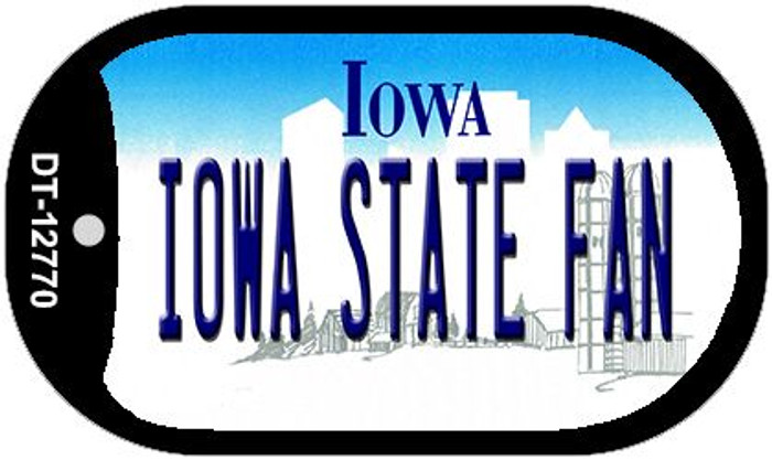 Iowa State Fan Novelty Metal Dog Tag Necklace DT-12770