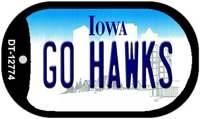 Go Hawks Novelty Metal Dog Tag Necklace DT-12774