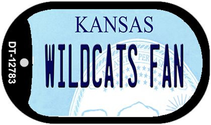 Wildcats Fan Novelty Metal Dog Tag Necklace DT-12783