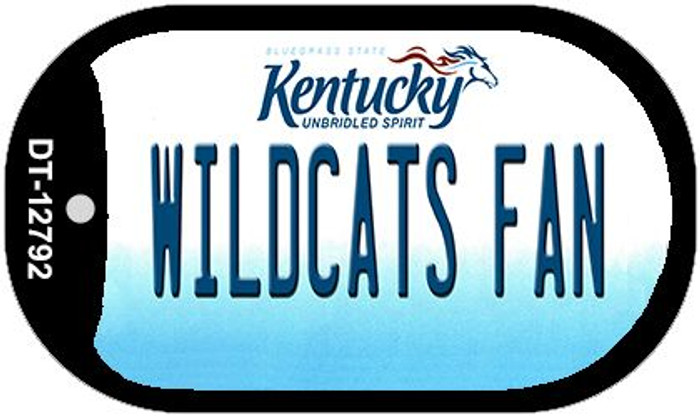 Wildcats Fan Novelty Metal Dog Tag Necklace DT-12792