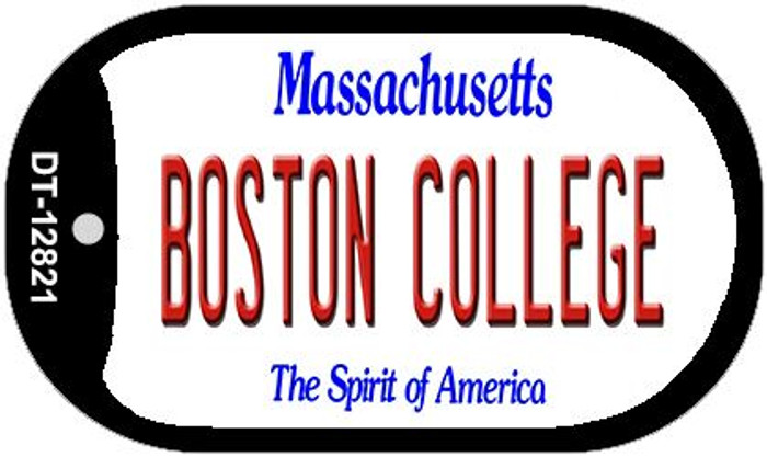 Boston College Novelty Metal Dog Tag Necklace DT-12821