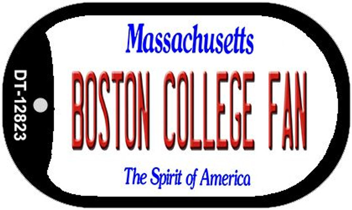 Boston College Fan Novelty Metal Dog Tag Necklace DT-12823