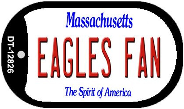 Eagles Fan Novelty Metal Dog Tag Necklace DT-12826