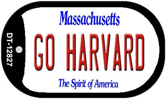 Go Harvard Novelty Metal Dog Tag Necklace DT-12827