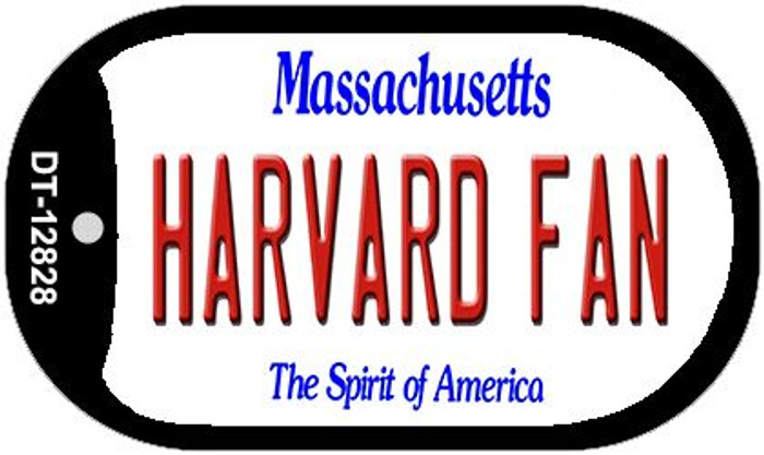 Harvard Fan Novelty Metal Dog Tag Necklace DT-12828