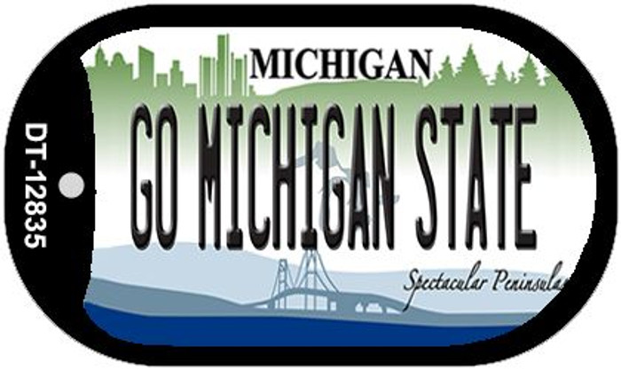 Go Michigan State Novelty Metal Dog Tag Necklace DT-12835