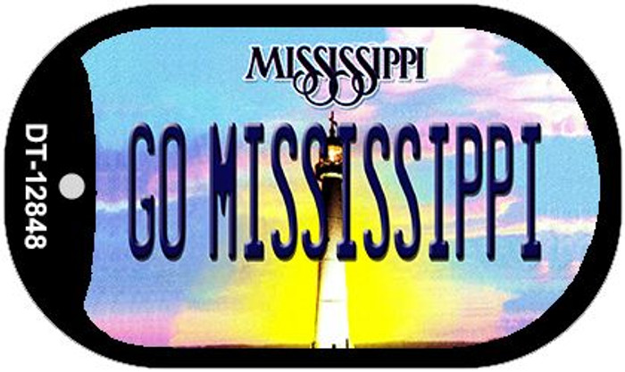 Go Mississippi Novelty Metal Dog Tag Necklace DT-12848