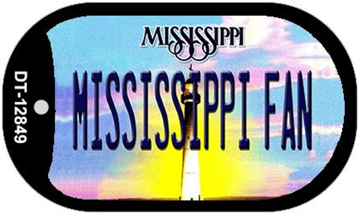 Mississippi Fan Novelty Metal Dog Tag Necklace DT-12849
