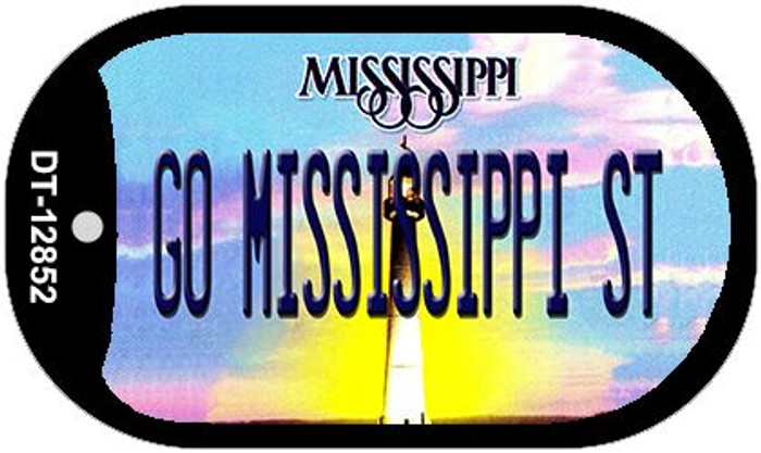 Go Mississippi State Novelty Metal Dog Tag Necklace DT-12852
