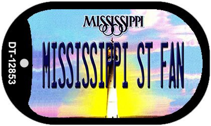 Mississippi State Fan Novelty Metal Dog Tag Necklace DT-12853