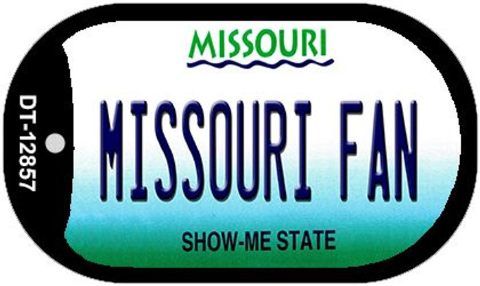 Missouri Fan Novelty Metal Dog Tag Necklace DT-12857