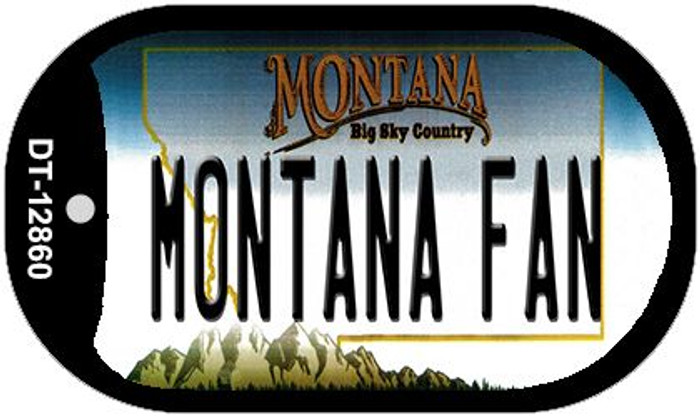 Montana Fan Novelty Metal Dog Tag Necklace DT-12860