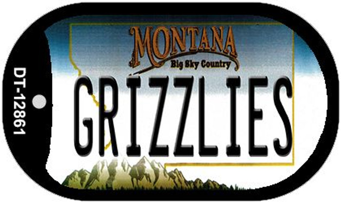 Grizzlies Novelty Metal Dog Tag Necklace DT-12861