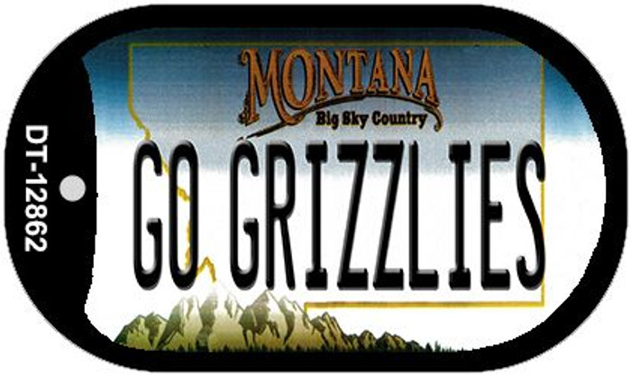 Go Grizzlies Novelty Metal Dog Tag Necklace DT-12862