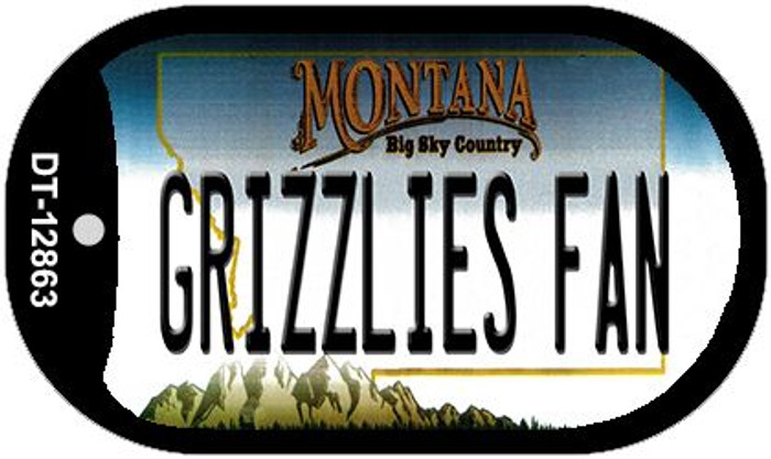 Grizzlies Fan Novelty Metal Dog Tag Necklace DT-12863