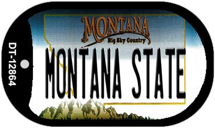 Montana State Novelty Metal Dog Tag Necklace DT-12864