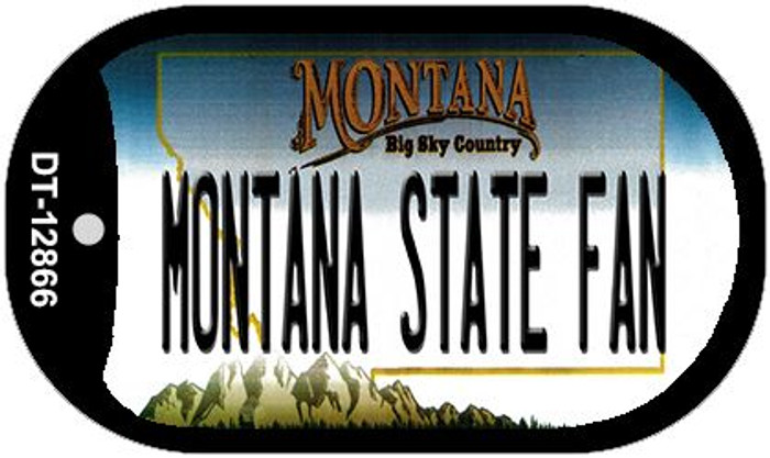 Montana State Fan Novelty Metal Dog Tag Necklace DT-12866