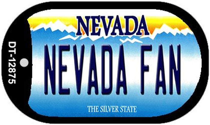 Nevada Fan Novelty Metal Dog Tag Necklace DT-12875