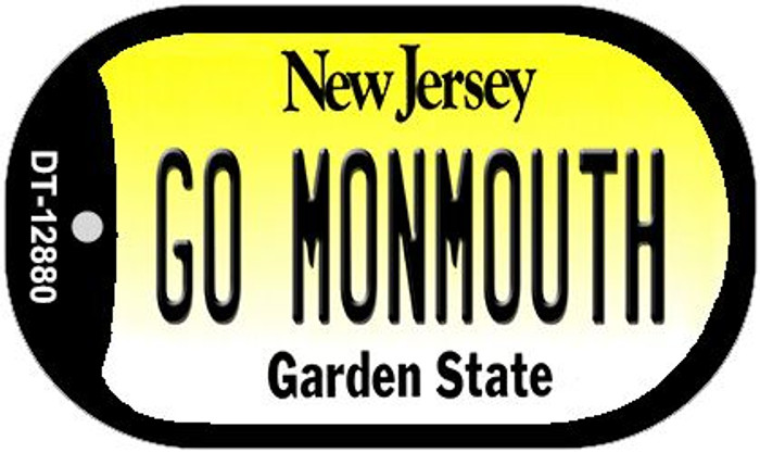 Go Monmouth Novelty Metal Dog Tag Necklace DT-12880