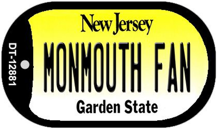 Monmouth Fan Novelty Metal Dog Tag Necklace DT-12881