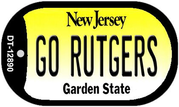Go Rutgers Novelty Metal Dog Tag Necklace DT-12890