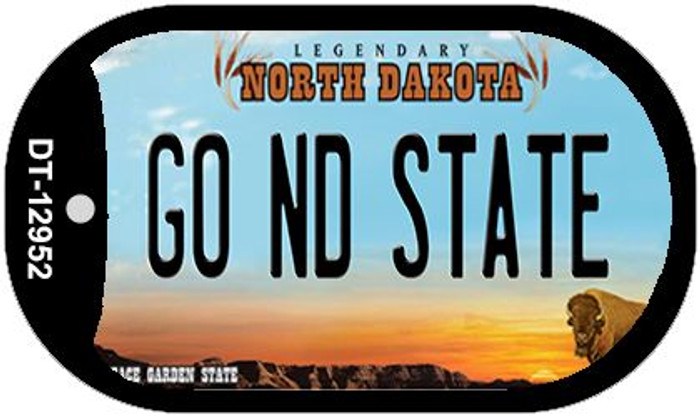 Go North Dakota State Novelty Metal Dog Tag Necklace DT-12952