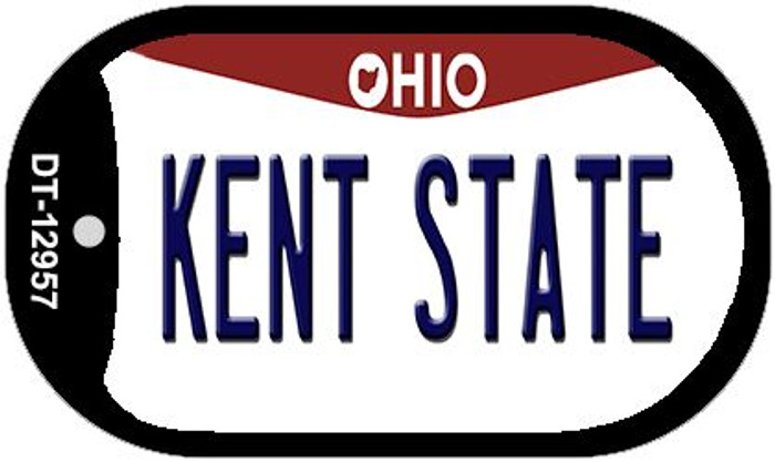 Kent State Novelty Metal Dog Tag Necklace DT-12957
