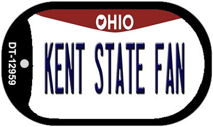 Kent State Fan Novelty Metal Dog Tag Necklace DT-12959