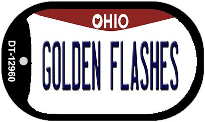 Golden Flashes Novelty Metal Dog Tag Necklace DT-12960