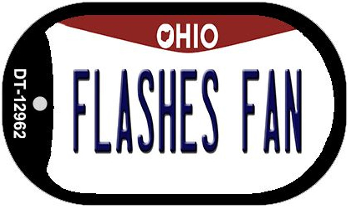 Flashes Fan Novelty Metal Dog Tag Necklace DT-12962