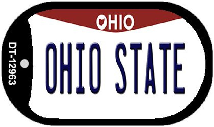 Ohio State Novelty Metal Dog Tag Necklace DT-12963