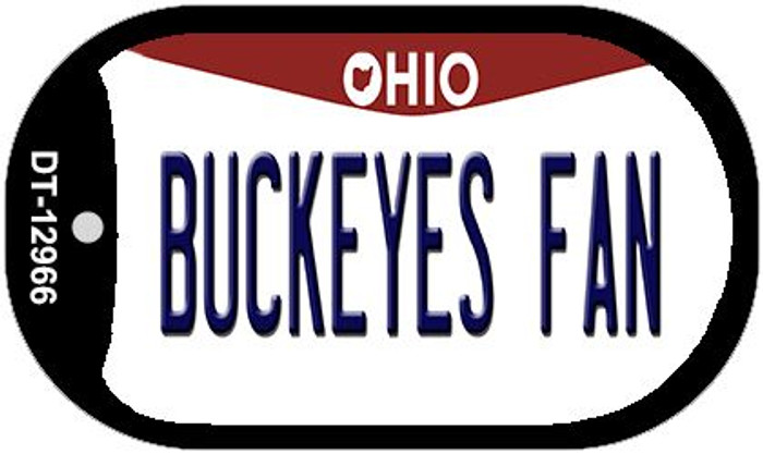 Buckeyes Fan Novelty Metal Dog Tag Necklace DT-12966