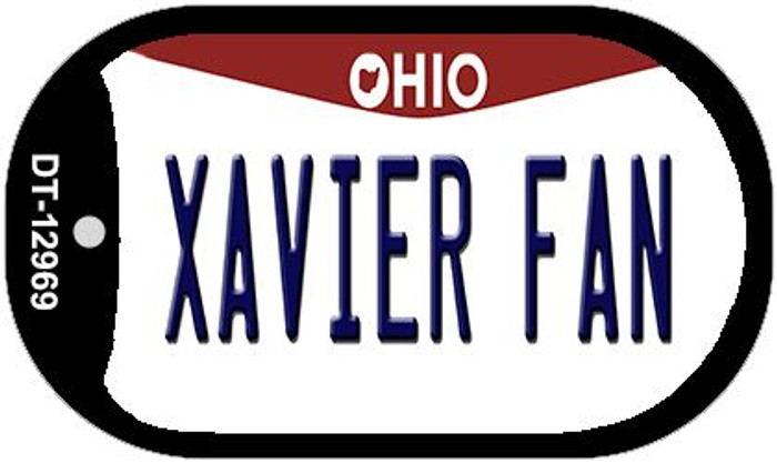 Xavier Fan Novelty Metal Dog Tag Necklace DT-12969
