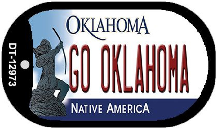 Go Oklahoma Novelty Metal Dog Tag Necklace DT-12973