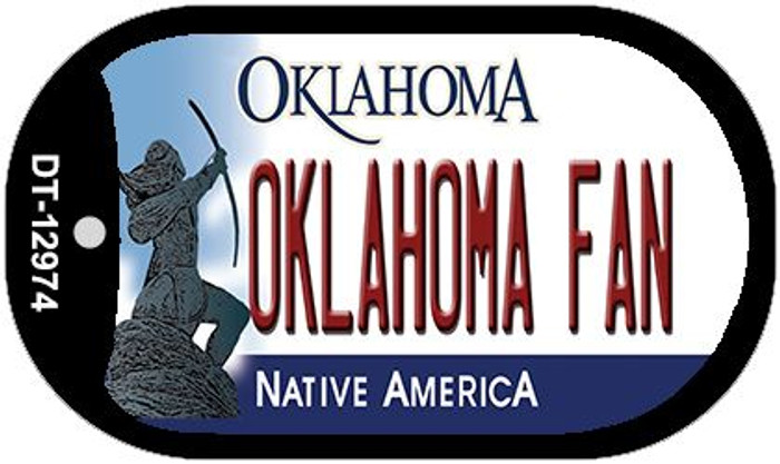 Oklahoma Fan Novelty Metal Dog Tag Necklace DT-12974