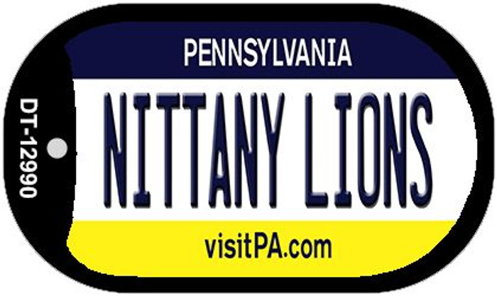 Nittany Lions Novelty Metal Dog Tag Necklace DT-12990