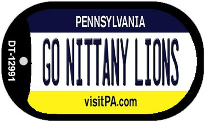 Go Nittany Lions Novelty Metal Dog Tag Necklace DT-12991