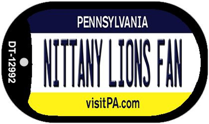 Nittany Lions Fan Novelty Metal Dog Tag Necklace DT-12992