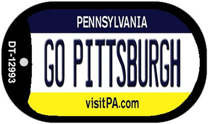 Go Pittsburgh Novelty Metal Dog Tag Necklace DT-12993
