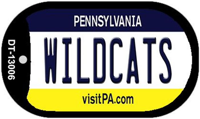 Wildcats Novelty Metal Dog Tag Necklace DT-13006