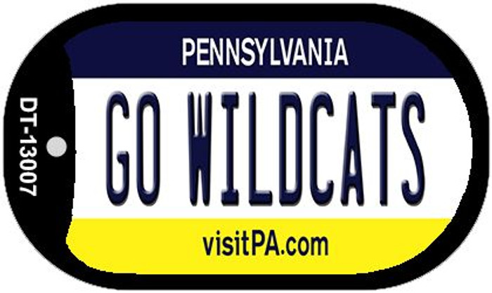 Go Wildcats Novelty Metal Dog Tag Necklace DT-13007