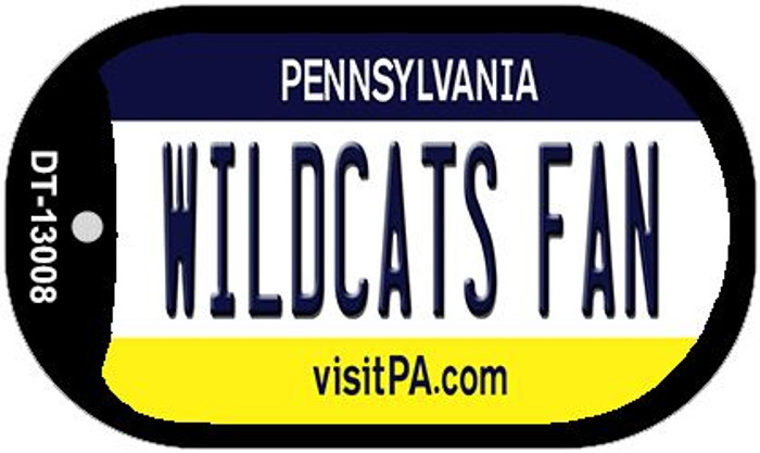 Wildcats Fan Novelty Metal Dog Tag Necklace DT-13008