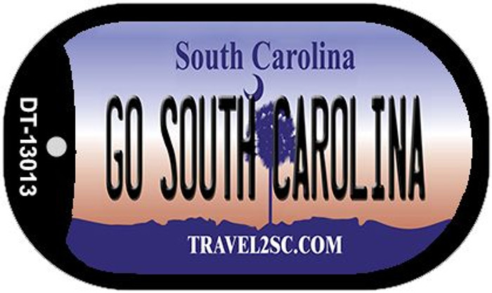 Go South Carolina Novelty Metal Dog Tag Necklace DT-13013