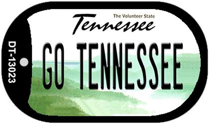Go Tennessee Novelty Metal Dog Tag Necklace DT-13023
