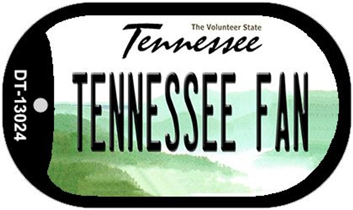 Tennessee Fan Novelty Metal Dog Tag Necklace DT-13024