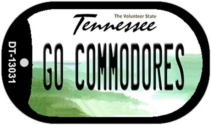Go Commodores Novelty Metal Dog Tag Necklace DT-13031