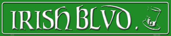 Irish Blvd Metal Novelty Street Sign